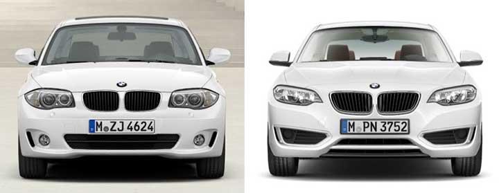Купе BMW 1 серии против купе 2 серии