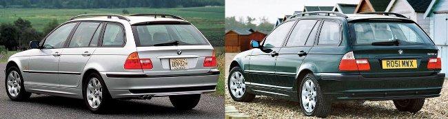 Обновление BMW 3 Series E46 Touring - вид сзади