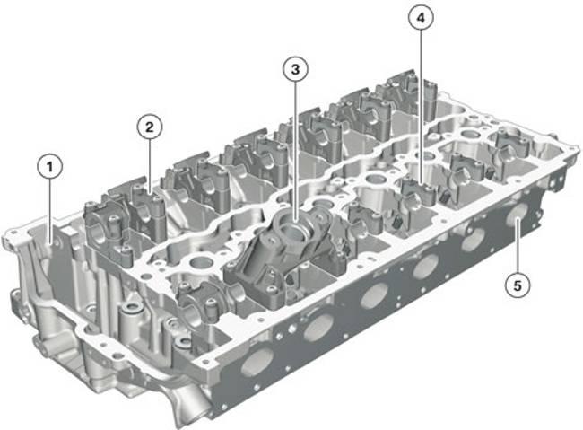 Головка блока цилиндров двигателя B58