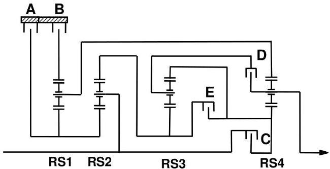 Схемы передачи ZF 8HP70