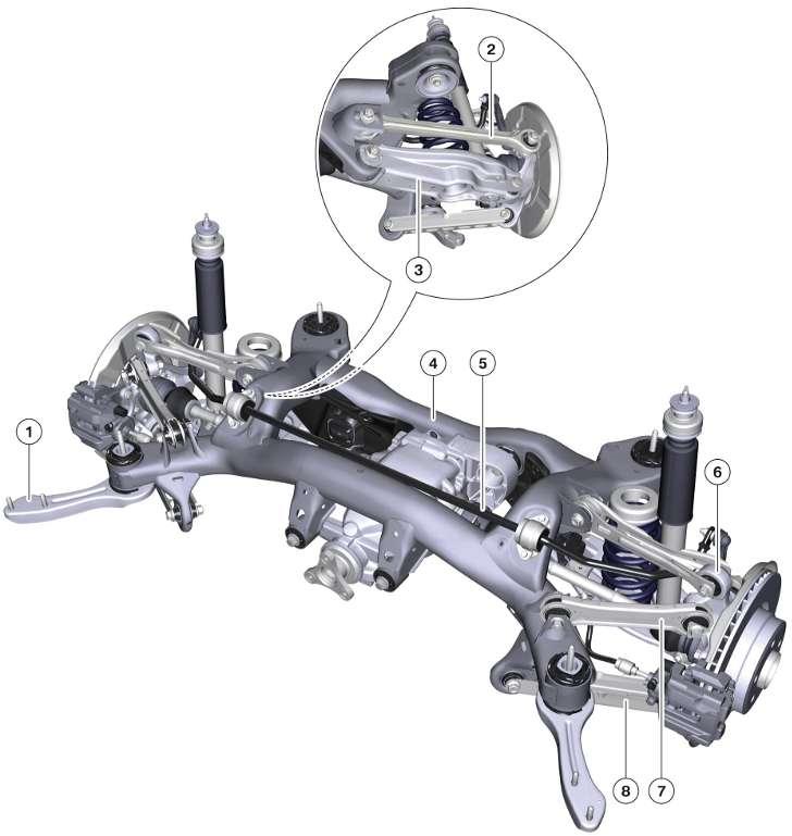 Задняя подвеска BMW X1 E84