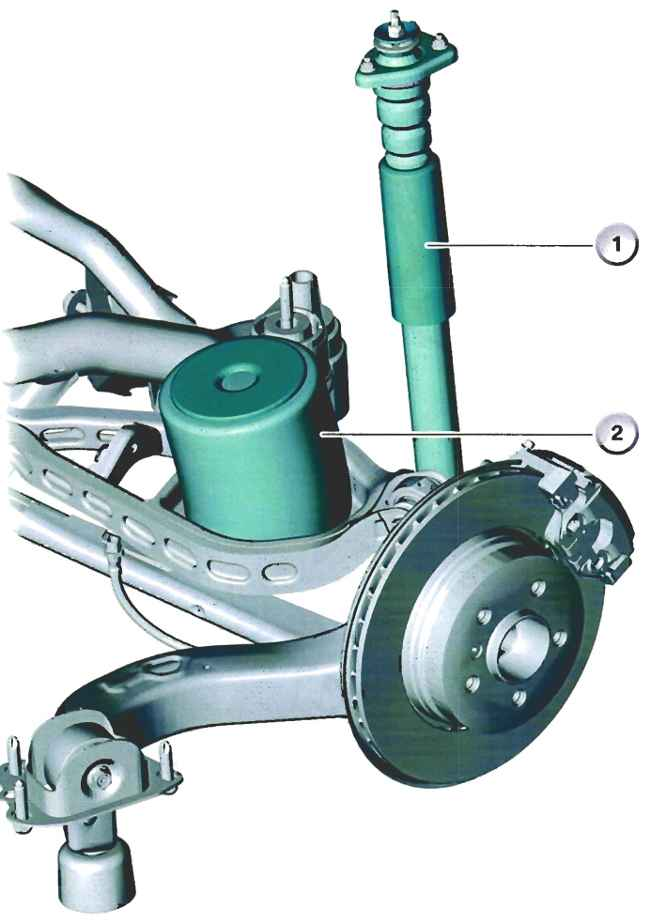 Пружина - амортизатор задней подвески BMW E83 X3
