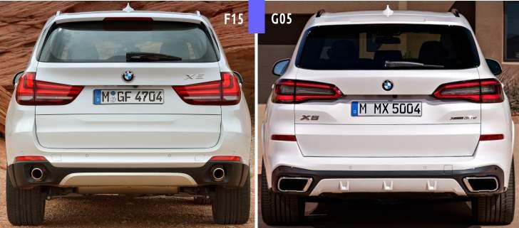 Design BMW X5 G05 backside - 2019