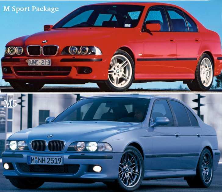 BMW E39 M Sport vs M5 - внешние отличия