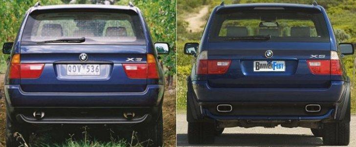 BMW X5 E53 дорестайнг vs рестайлинг с 2003 года