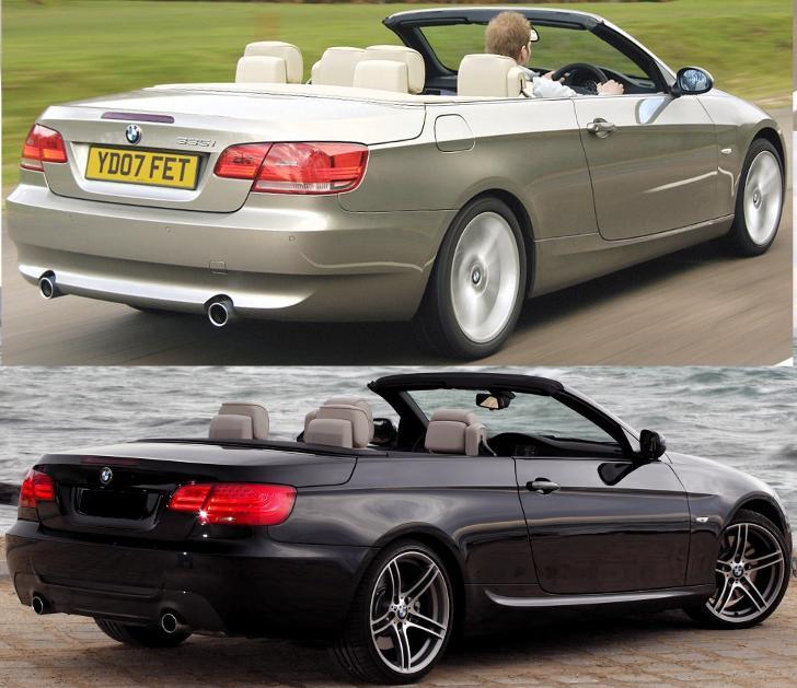 BMW E93 - отличия седана - до и после рестайлинга LCI