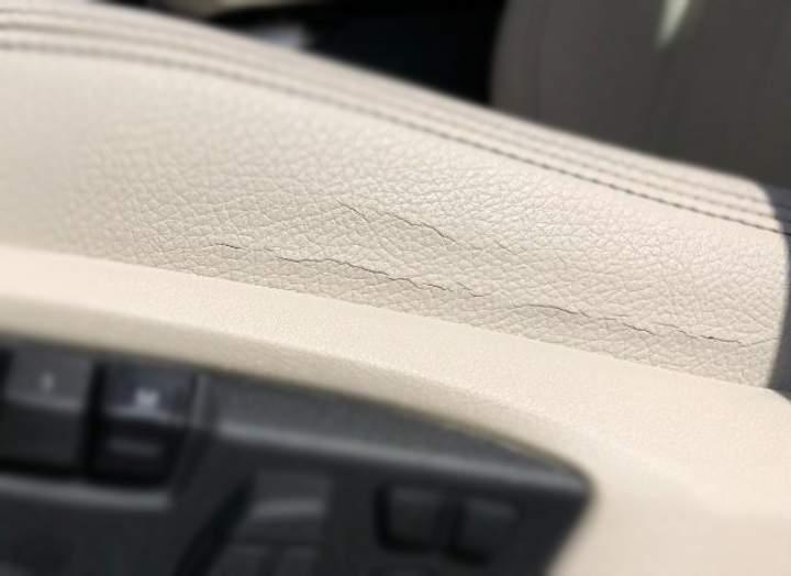 Трещины на коже BMW F15 X5