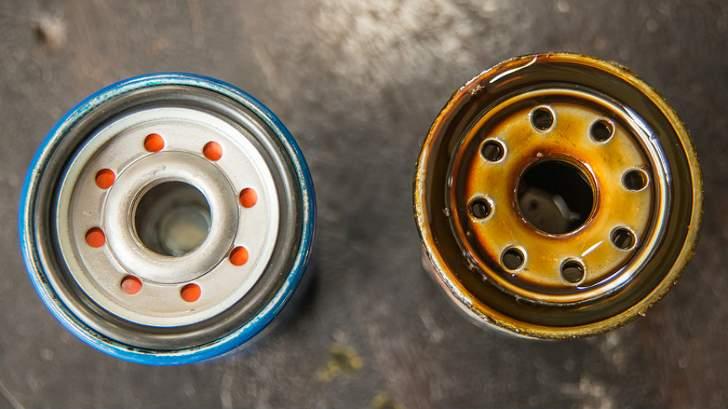 Сравнение масляного фильтра - новый и старый