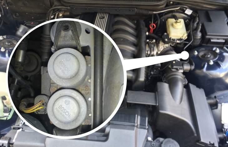 Где расположены клапана печки БМВ Е39
